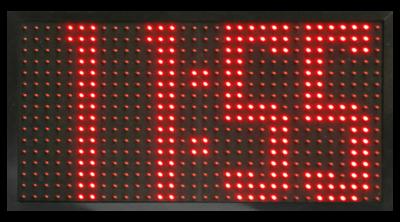 LED Uhr Großformat